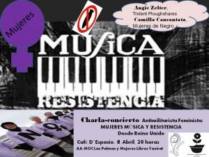 Charla-concierto MUJERES, MÚSICA Y RESISTENCIA
